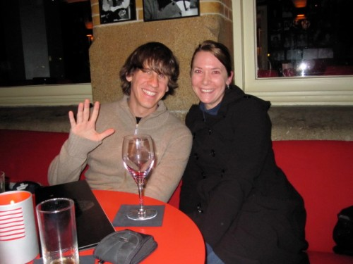 Dennis Crowley and Heather LeFevre