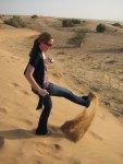 Me kicking sand